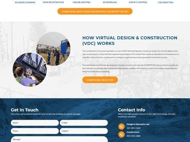 Construction company WP website