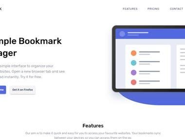 Bookmark Landing Page