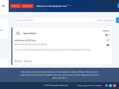 Php Laravel based Forum with Angular