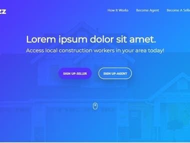 Real estate agent portal web app
