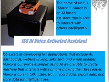 ISS IoT Project: Marco, the AI Voice-Based Assistant