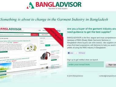 Bangladvisor Landing Page