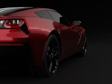 3D Corvette Stingray C7 Render