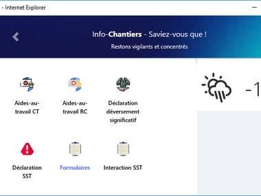 Hydro-Quebec web app
