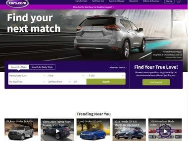 Car Sales Platform - React