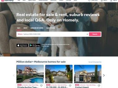 RealEstate Website with Laravel