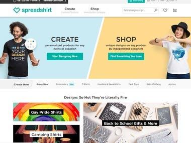 ShirtPrinting Platform - Vue, ASP.NET
