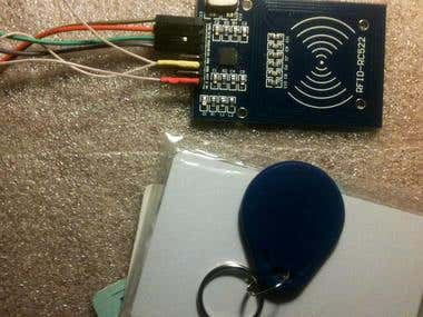 Buetooth control module with mirafe reader