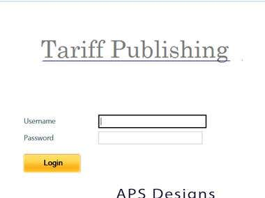 Websites designs, forms, javascript etc are displayed