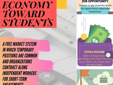 Infographic Poster - Benefits of Gig Economy toward student