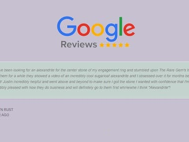Google review slider