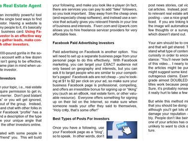 Using Facebook As A Real Estate Agent