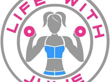 LIFE WITH JULIE logo design