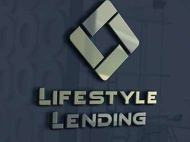 LIFESTYLE LENDING logo design