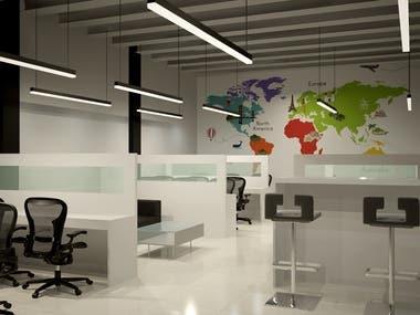 Office Space Design (3D Views)