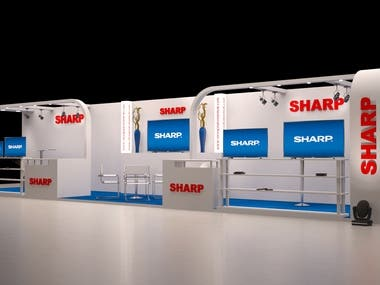3D Stall Design for Sharp Corporation