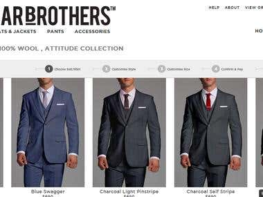 Custom Suit Design Website Script