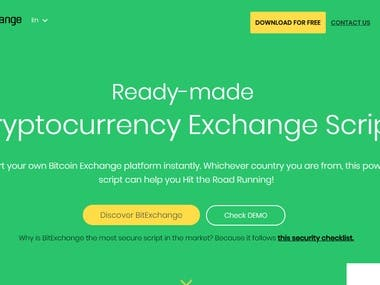 Cryptocurrency Exchange Software 'BitExchange' Bitcoin/Ether