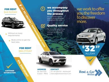 Trifold Rent a Car