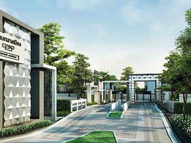 Townhome project design landscape architect