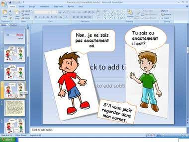 Funny presentation in French.