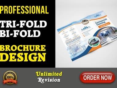 Professionally Design Tri Fold, Bi fold brochure