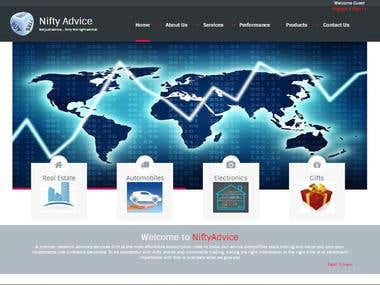 NiftyAdvice CodeIgniter(PHP) Website