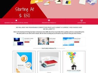 Website for printing agency in Wordpress