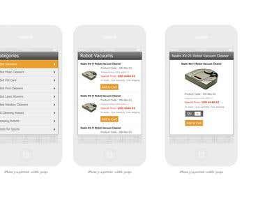 Robotshop mobile app design