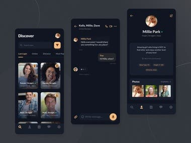 Dating Mobile Apps Design