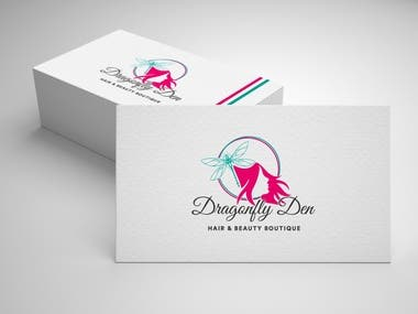 Dragonfly Den (Hair and Beauty Boutique) Logo Design