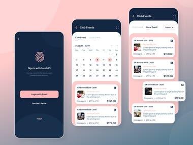 Event Management App Mockup