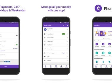 Money transfer and digital wallet app