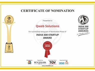 India 500 Nomination Award