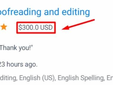 English proofreading