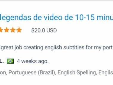 Portuguese to English