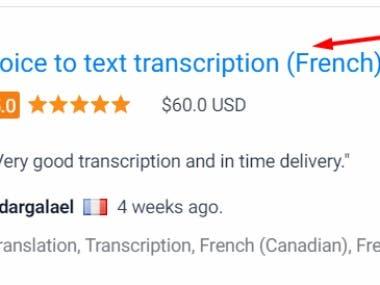French transcription