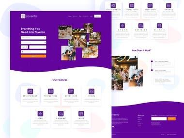 Zovento Website Design