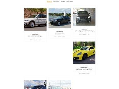 Vehicle website