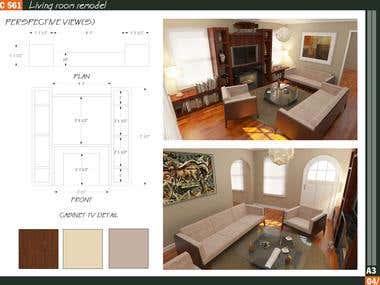 Home Interior Design / Location: Arlington, Virginia, US