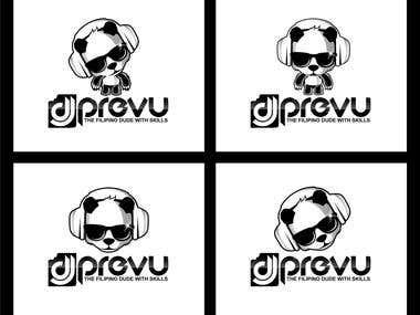 DJ PREVU LOGO n MASCOT