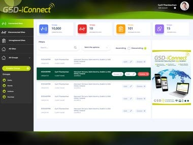 GSD Iconnect Dashboard Design