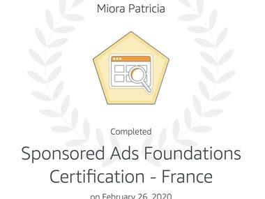 Amazon - Sponsored ads foundations Certification