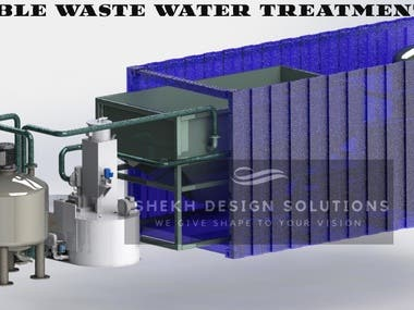 Portable waste water treatment plant