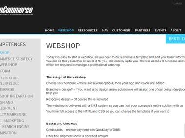 ScanCommerce WEBSHOP platform