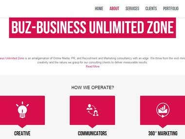 BUZ Wordpress Parallax Effect Website