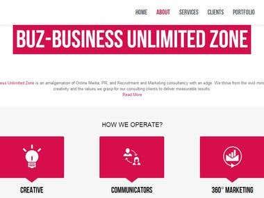 BUZ Wordpress Parallax Effect Website