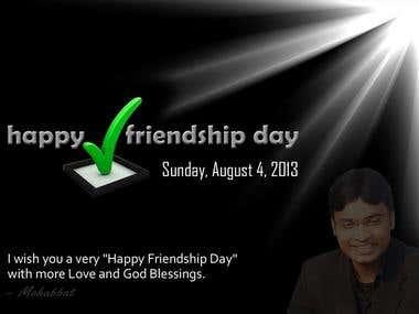 Friendship Day Card Design-1