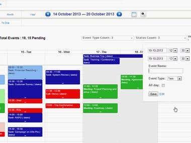 Advanced Calendar for vTiger 54