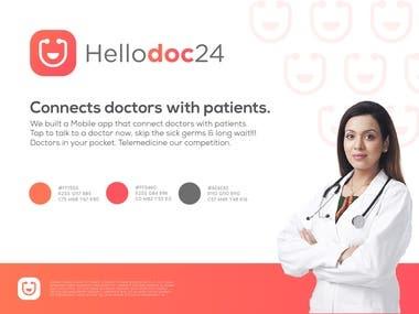 HelloDOC24 Logo Design
